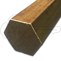 Extruded Mill Finish 360 Brass Hex Bar H02 Temper 0.4375 Across Flats Unpolished OnlineMetals 96 Length ASTM B16