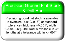 Precision Ground Flat Stock & Drill Rod